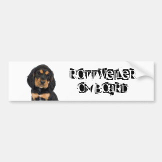 Rottweiler on Board Bumper Sticker