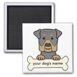 Rottweiler personalizado imanes de nevera