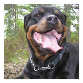 Rottweiler Photo Invitation