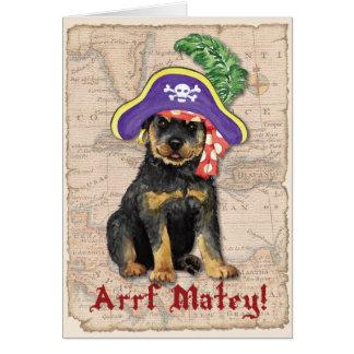 Rottweiler Pirate Card