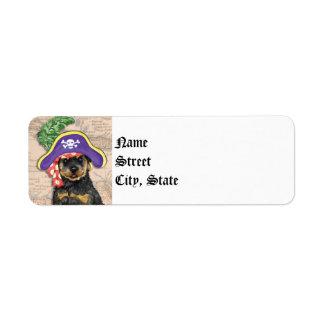 Rottweiler Pirate Label