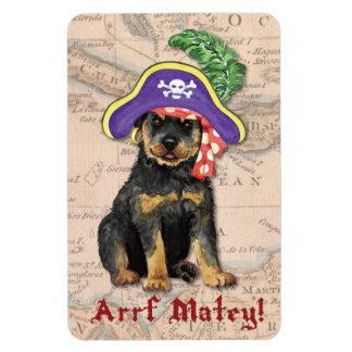 Rottweiler Pirate Magnet