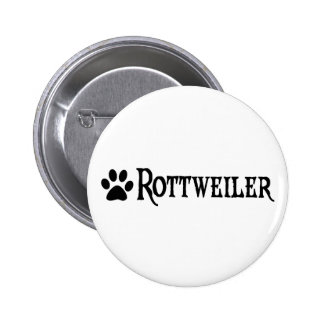 Rottweiler (pirate style w/ pawprint) button