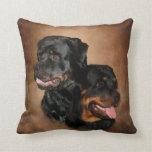 Rottweiler Polyester Throw Pillow