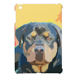 Rottweiler Portrait Painting iPad Mini Covers