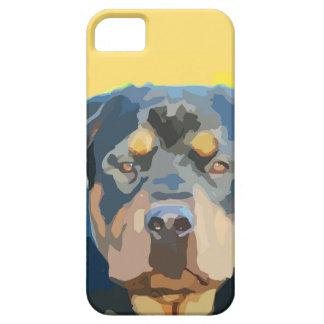 Rottweiler Portrait Painting iPhone SE/5/5s Case