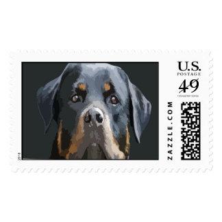 Rottweiler Portrait Vector Postage