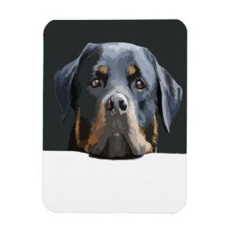 Rottweiler Portrait Vector Rectangular Photo Magnet