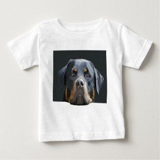 Rottweiler Portrait Vector Tee Shirt