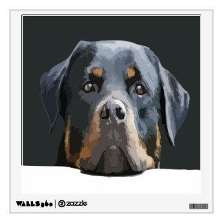 Rottweiler Portrait Vector Wall Sticker