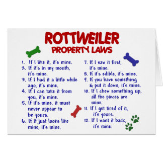ROTTWEILER Property Laws 2 Card