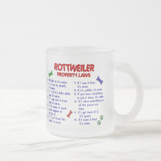 ROTTWEILER Property Laws 2 Frosted Glass Coffee Mug