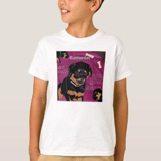 Rottweiler Pup kids basic tee white