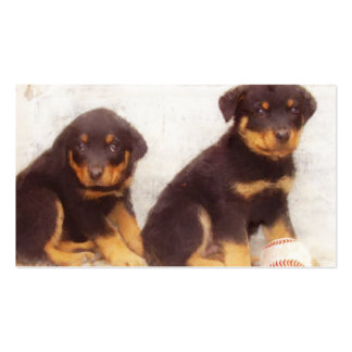 Rottweiler puppies business cards