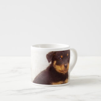 Rottweiler puppies espresso cup