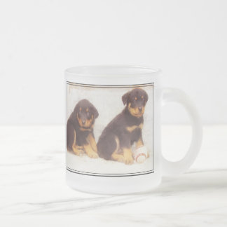 Rottweiler puppies frosted mug