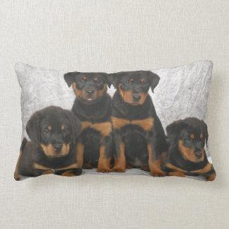 Rottweiler puppies lumbar pillow