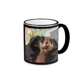 Rottweiler Puppies Play Fighting Mug