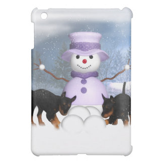 Rottweiler Puppies Playing In The Snow  iPad Mini Cases