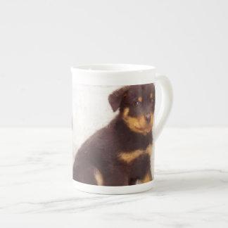Rottweiler puppies porcelain mugs