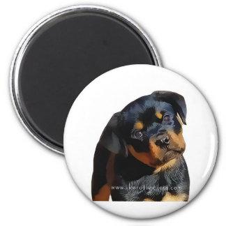 Rottweiler puppy 2 inch round magnet