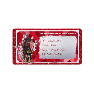 Rottweiler Puppy and Parent Custom Return Address Label