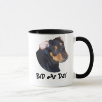 animal, lover, rottweiler, puppy, bad, ear, day, dragon, fairy, art, faery, fairies, wolves, fantasy, medevil, dark, red, purple, green, sky, skies, eyes, wings, winged, creatures, colorful, bright, castles, castle, dragons, new, poster, wolf, attack, t-shirt, eye, crearture, wish, protect, drown, Caneca com design gráfico personalizado
