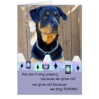 Rottweiler Puppy Birthday Greetings Greeting Card