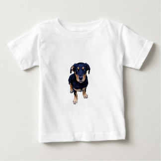 rottweiler puppy black tan dog eye contact t shirt