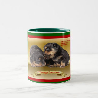 Rottweiler Puppy Christmas Wishes Coffee Mugs