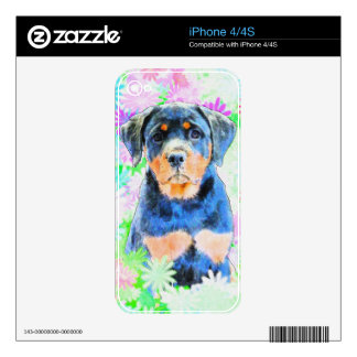 Rottweiler Puppy Decal For iPhone 4