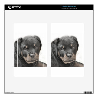 Rottweiler puppy decals for kindle fire