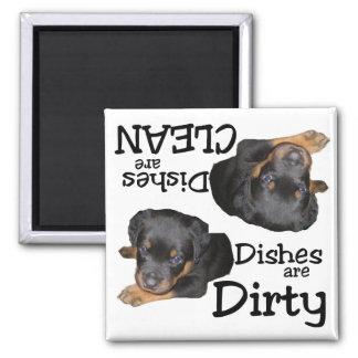Rottweiler Puppy Dishwasher Magnet