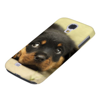 Rottweiler puppy dog curious samsung galaxy s4 cover