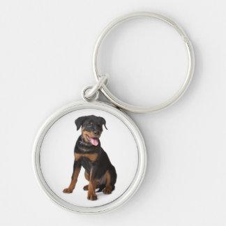 Rottweiler Puppy Dog Keychain