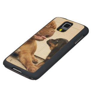 Rottweiler-puppy-dog-yearning Carved Maple Galaxy S5 Case