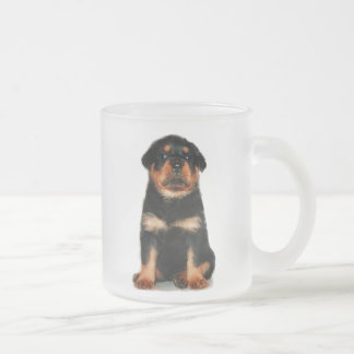 Rottweiler Puppy frosted Mug