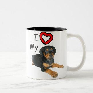 Rottweiler Puppy I Love My Rott Mugs