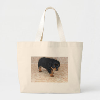 Rottweiler Puppy Looking Embarassed Bag