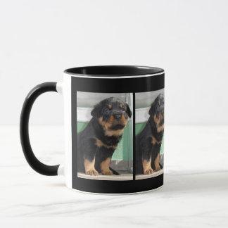 Rottweiler Puppy Looking Folorn Mug