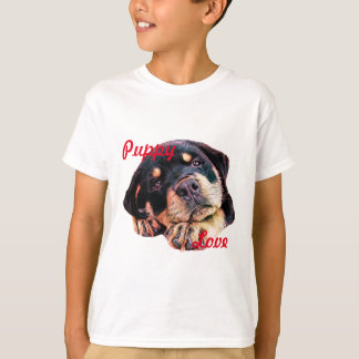Rottweiler Puppy Love Rott Dog Canine German Breed T-Shirt