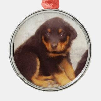Rottweiler puppy ornament