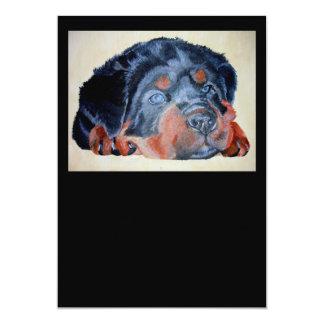 Rottweiler Puppy Portrait Card