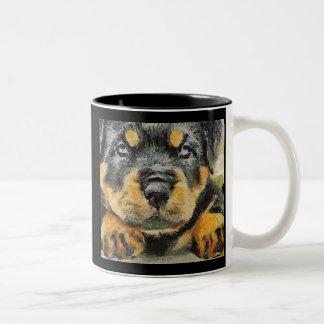 Rottweiler Puppy Portrait Mugs