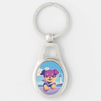 Rottweiler Puppy Sea Dog Sailor Keychain
