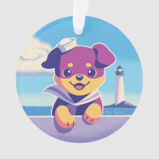 Rottweiler Puppy Sea Dog Sailor Ornament