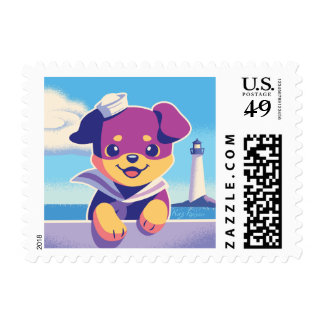 Rottweiler Puppy Sea Dog Sailor Postage