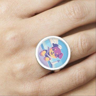 Rottweiler Puppy Sea Dog Sailor Ring