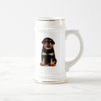 Rottweiler Puppy Stein Coffee Mugs