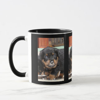 Rottweiler Puppy With Food On Nose Mug